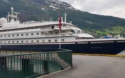 Måløy får 18 anløp av SeaDream Yacht Club sine to cruiseskip denne sommaren